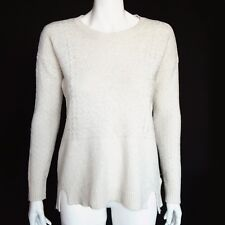 MADEWELL Speckled Ivory Fair Isle Textured Knit Sweater Women's Small - 7005