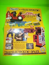 Taito FULL THROTTLE + Operation Thunderbolt Video Game Poster Flyer Electrocoin