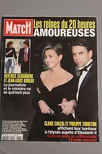 paris match n°2864 claire chazal william et kate chirac