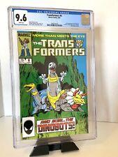 Marvel Comics Transformers #8 CGC 9.6 White Pages 1985 1st app. Dinobots NM+ 1st
