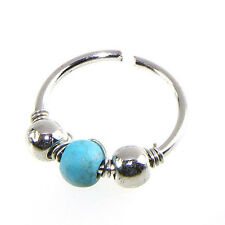 Stainless Steel Nose Ring Turquoise Nostril Hoop Nose Earring Piercing Jewelry