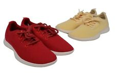 Lot of 2 Allbirds The Wool Runner Womens Red Yellow Low Sneakers Shoes W10 EUC