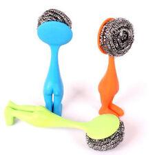 Handlich Edelstahl Waschbürste Topfkratzer Reinigung Küchenhelfer Kreativ Design