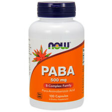 Paba, 500mg x 100 Capsules - NOW Foods
