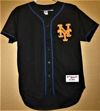 New York Mets Black Button-Down Jersey (Size 44)