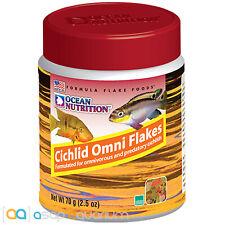 Ocean Nutrition Cichlid Omni Flakes 70 grams (2.5 oz) Fish Food for Cichlids
