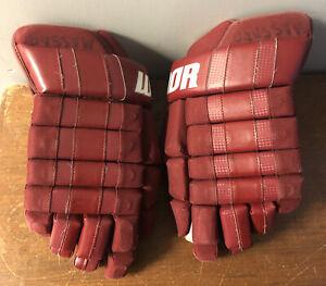 """Vintage Ice Hockey Gloves Warrior Bully 14"""" Hockey Gloves"""