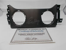 2005-2009 Shelby GT500 or Mustang Carroll Shelby Signed Center Dash Insert