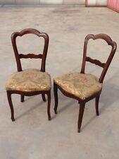 coppia di sedie in noce epoca 1850