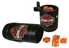 Harley-Davidson Bar & Shield Logo Dice Cup Game Set, Leatherette Cup 651