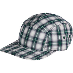 COAL The RICHMOND Cotton FLANNEL Adjustable BASEBALL HAT Cap GREEN Plaid HIPSTER
