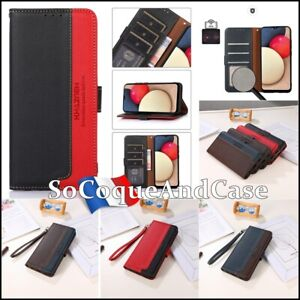 Etui coque housse KHAZNEH Bi-Color Stand Wallet Case Cover OnePlus Collection