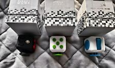 Set Of 3 Fidget cube Red Green Blue ADHD stress anxiety