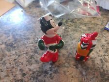 mickey christmas salt and pepper shakers