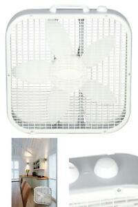 Box Fan 20 In Portable 3 Speed Floor Cooling Electric Quiet Room Air Flow Lasko