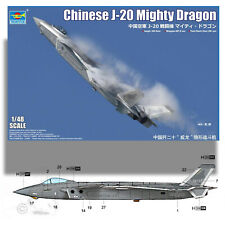TRUMPETER 1/48 CHINESE J-20 'MIGHTY DRAGON' KIT 05811