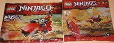 2x Lego Ninjago! 2x Roter Ninja Kai mit Drachen und Drifter OVP