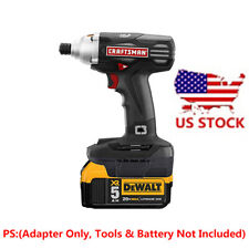 1x DEWALT 20V Slider Li-ion Batteries To Craftsman 19.2V Cordless Tools Adapter