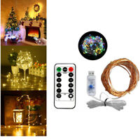 20M 200LED USB String Copper Wire Remote Control Fairy Lights Xmas Party Decor M
