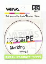 Varivas P.E Ligne High Grade X4 Type II Multicolor 200M P.E 0.8 15Lb (9750)
