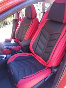 PREMIUM Red Black FULL Car Seat Cover for Ford Focus Fiesta Ranger Mondeo Kuga