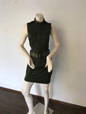 321924e9c083 G Star Raw Women Rovic Slim Dress  Sleeveless. Caval Green. Size S.