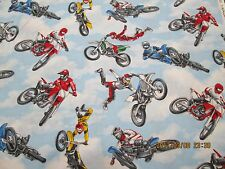 MOTOCROSS CYCLES - by TIMELESS TREASURES 100% COTTON  NEW DESIGN 1 YARD PIECE