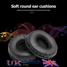 More details for 2pcs 45mm-110mm ear cushion kit headphones replacement soft pads round cover uk