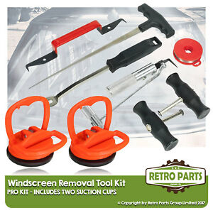 Windscreen Glass Removal Tool Kit for Fiat Strada. Suction Cups Shield