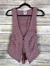 Nuvula Women's Size Medium Anthropologie Red Black Checkered Vest Plaid JC011