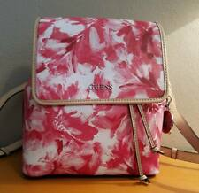 NWT GUESS Women's Ellisha Red Multi/Floral-Print Backpack