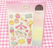 GAIA / Merry-go-round Ice Cream Letter Set / Made in Japan Stationery