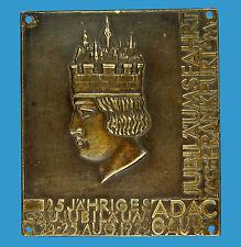 PLACCA ADAC GAU IIIa Giubileo viaggio fino a Francoforte A.M. 24.-25.aug.1929