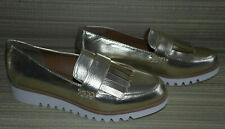 NEXT WOMENS GOLD SLIP ON SYNTHETIC LOAFER COMFORT SHOES  SIZE:4/37(WS05)