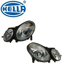 For Mercedes W211 Set of Left & Right Headlight Assemblies Bi-Xenon OEM Hella