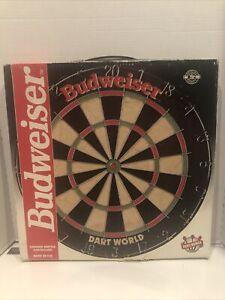 NEW Vintage Budweiser Dart World Official Competiton Dart Board Made in UK