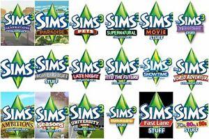 The Sims 3 Expansions Stuff Packs Origin Game Key (PC/MAC) - Region Free - NO CD