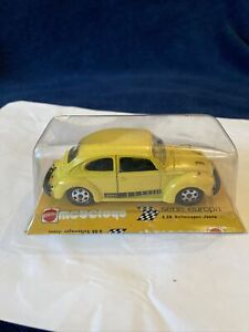 Vintage 70s Mebetoys Mattel VW Beetle Jeans Yellow 1:43 Made In Italy A88