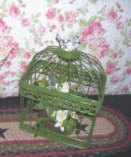 Decorative Metal Victorian Bird House W/ Nest