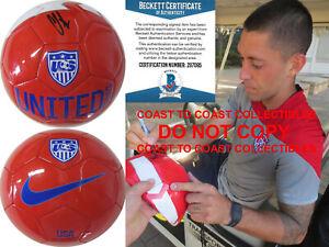 Clint Dempsey Sounders autographed USA soccer ball exact proof Beckett COA