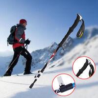 Hiking Stick Walking Carbon Fiber Quick Lock Ultra-light Trekking Pole EVA