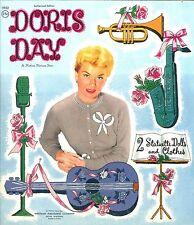 Vintage Uncut 1956 Doris Day Paper Dolls 8 Pg Hd~Laser Reproduction~Lo Pr~Hi