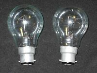 2 x Glühbirne 60W Bajonett B22  B22d - Birne -Glühlampe Steckbirne (2 Stück)