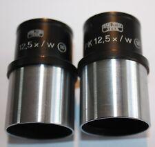 Pair of Carl Zeiss Microscope lens PK 12.5 x / w  16 PK12.5x/w 16mm