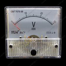 DC 30V Analog Voltmeter Panel Pointer Volt Voltage Meter Gauge 85C1 0-30V DC