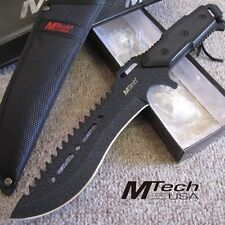 """12"""" Combat Hunting Knife and Sheath w/Rough Paint Finish Full Tang - Mtech"""