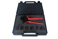 Bergen Crimp Pliers Crimping Ratchet Tool Set With Extra Dies B6632