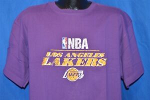 NWT NEW LOS ANGELES LAKERS PURPLE BASKETBALL NBA MITCHELL & NESS t-shirt XL