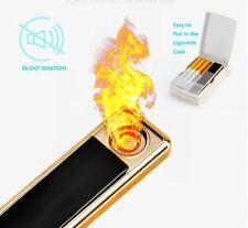 Electronic USB Slim Lighter Rechargeable Flameless Windproof Fingerprint Gift