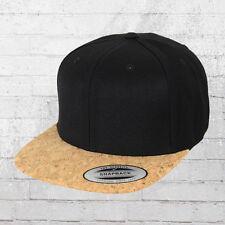 Yupoong Cork SnapBack cap negro tapón de corcho capó gorro capi snap Back ha